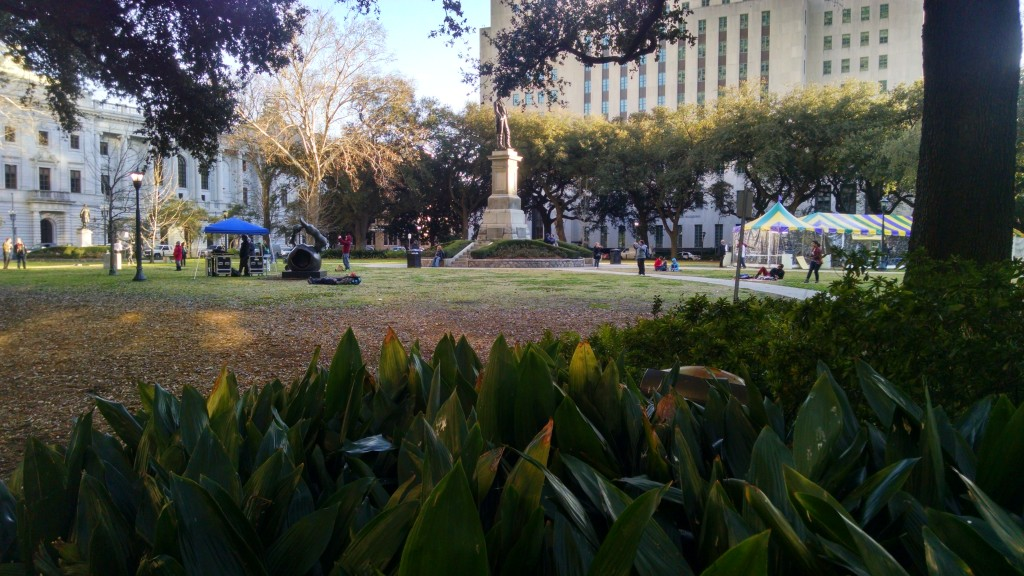 This is Lafayette Square.  There was a band playing, and a statue.