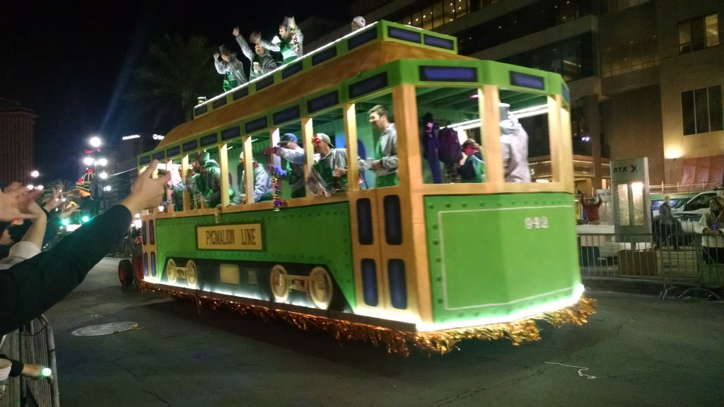 Streetcar parade float
