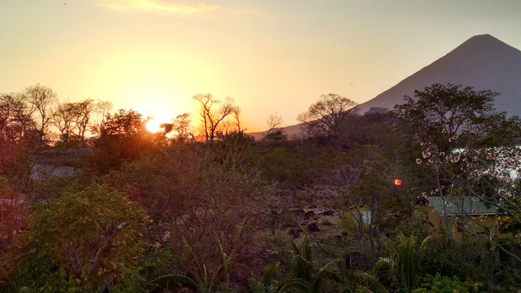 Sunset on Ometepe Island