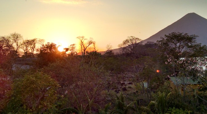 Sunset on Ometepe Island