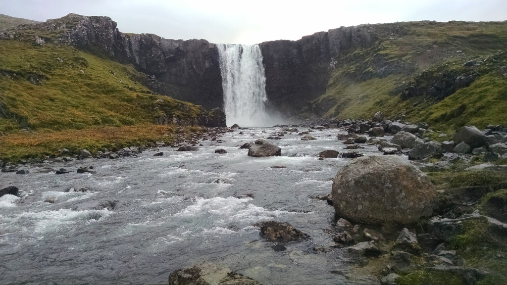 The final waterfall, in Seydisfjordur