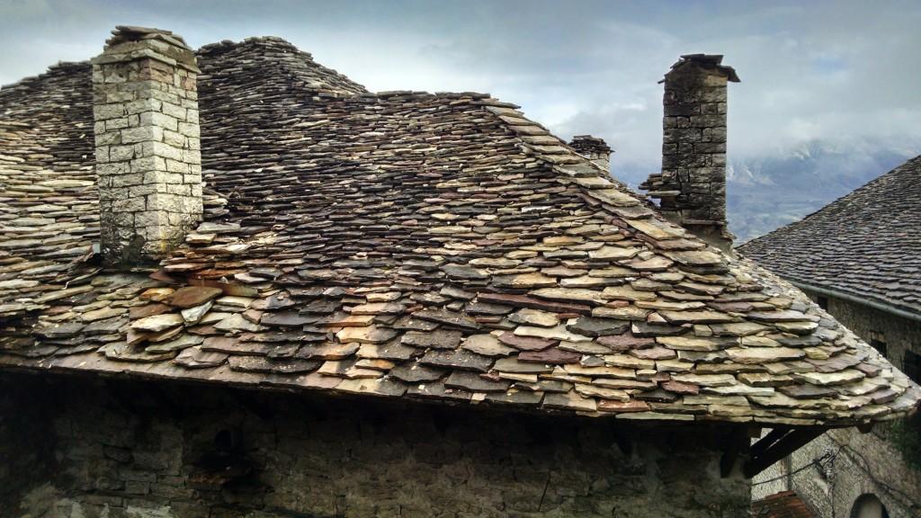 Flat Rocks on a roof