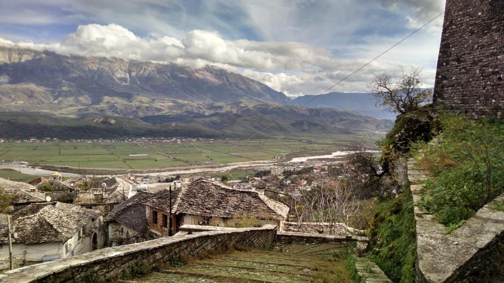 Steps up to the Gjirokastër Castle