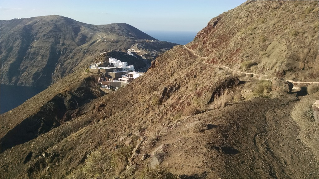 Path through the caldera abyss