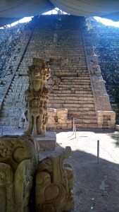 The actual cool Mayan staircase was being renovated