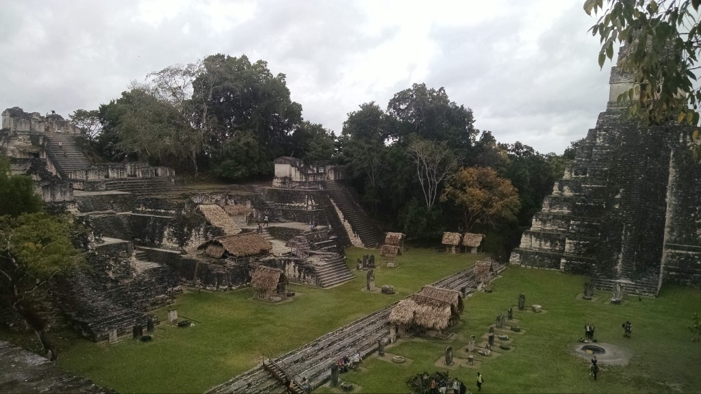 The main courtyard in Tikal