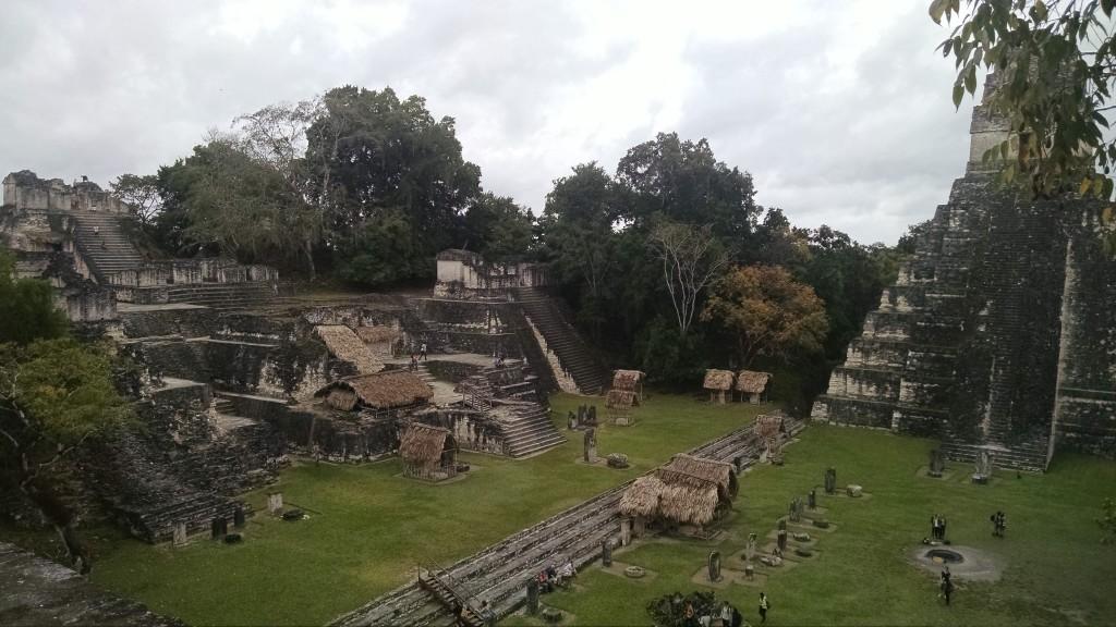 The main courtyard in Tikal