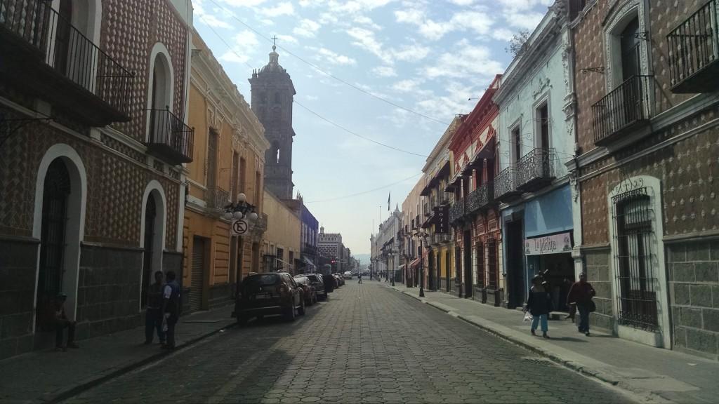 A street in Puebla