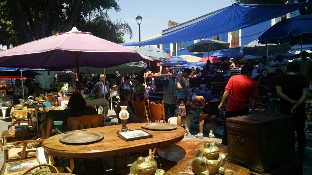 Antique market in Puebla