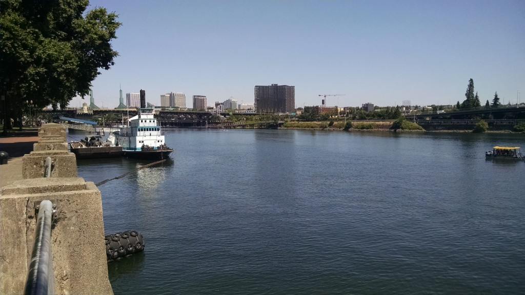 View of Willamette River