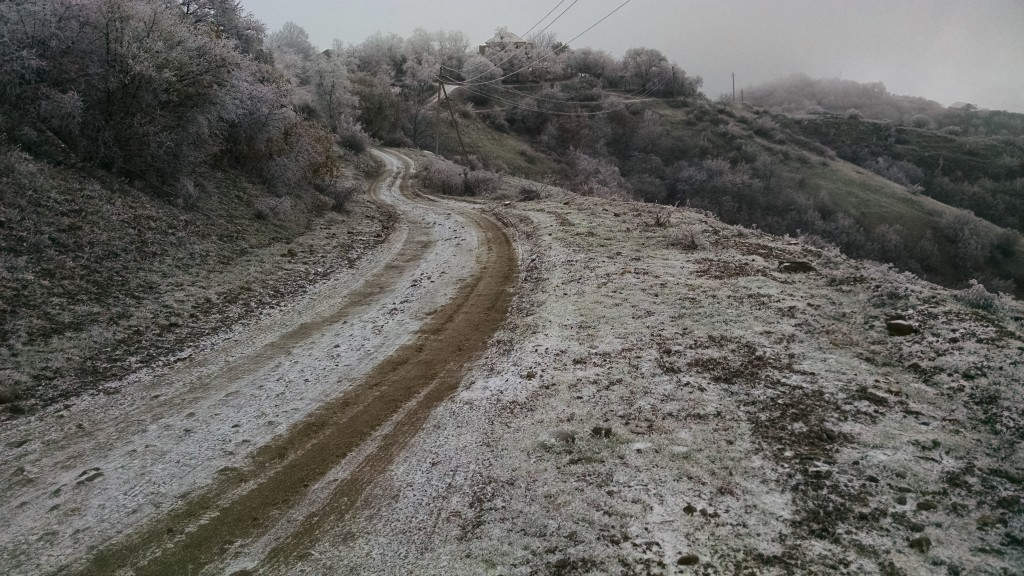 Icy pathway