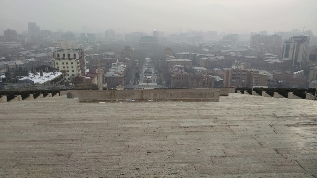 Foggy Yerevan from Cascade