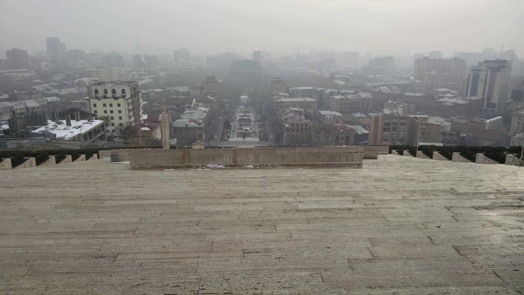 Foggy Yerevan from Cascade