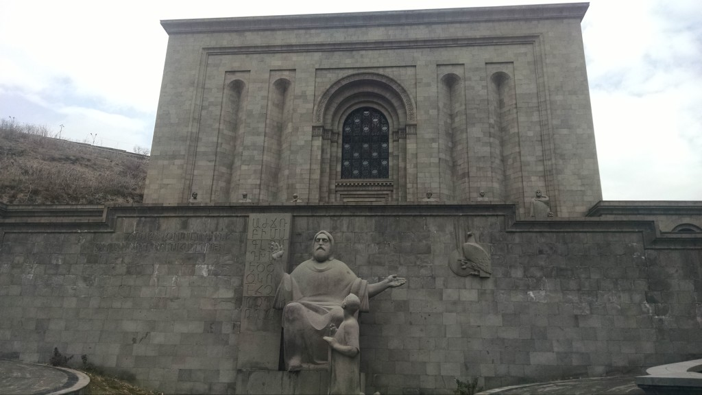 Outside the Matenadaran