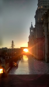 Sunset in Arequipa