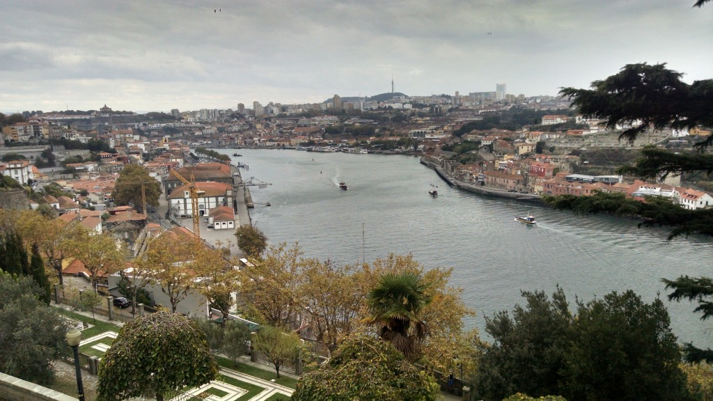 Duoro River from the Botanical Gardens in Porto