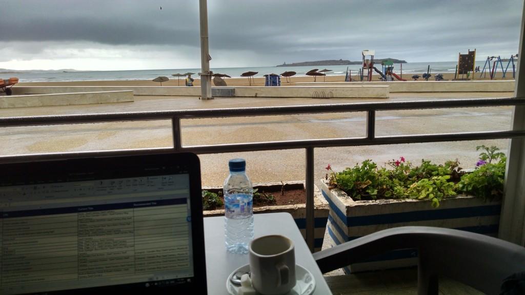 Cafe near the beach on Essaouira