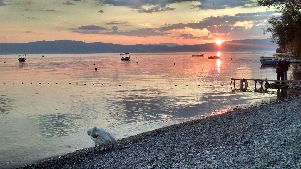 Sunset on Lake Ohrid