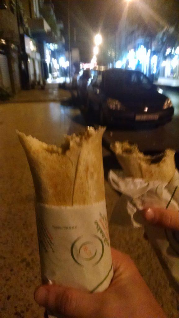 Hummus Wrap in Jordan