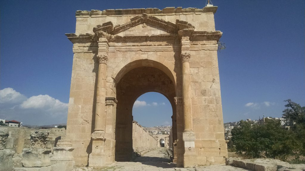 Gate in Jerash, Jordan